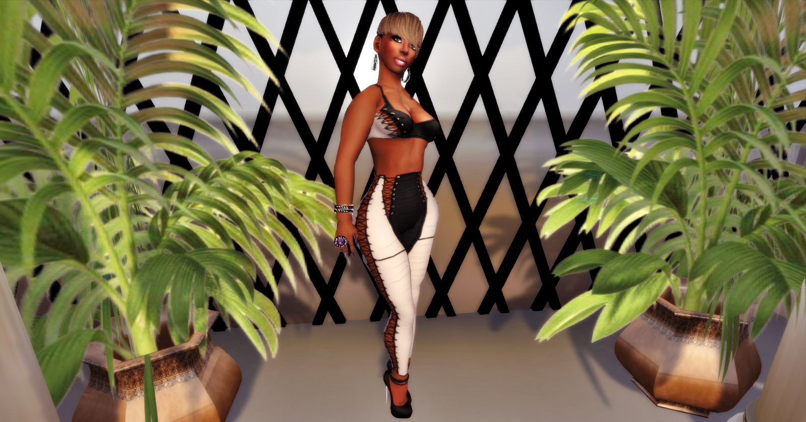 c77487206d36 I wore the Black set but added a Jacket from ValentinaE. a Mesh Corset, and  hair from a newly open store called Burley's. My My My, DO check out  Burleys, ...