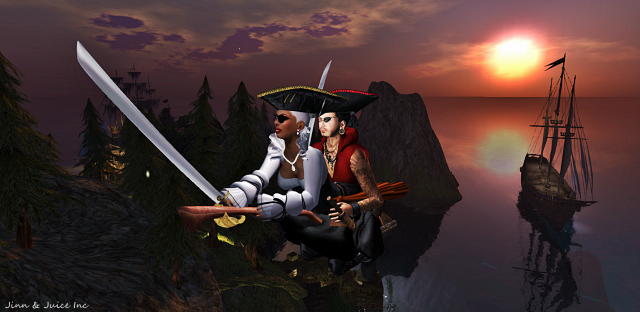 pirate flying broom
