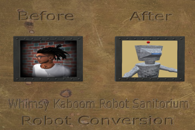 Bots man to robot